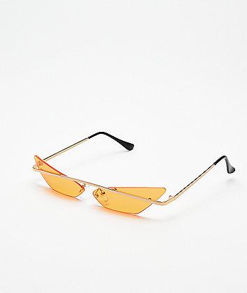 Heat Orange Mini Cateye Sunglasses