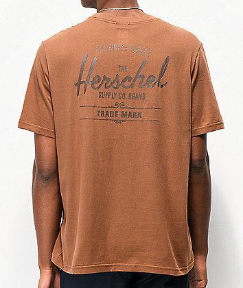 Herschel Supply Co. Classic Logo Brown T-Shirt