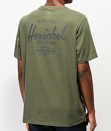 Herschel Supply Co. Classic Logo Olive T-Shirt