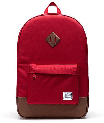 Herschel Supply Co. Heritage Red & Saddle Brown Backpack
