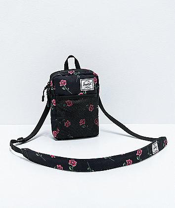 Herschel Supply Co. Sinclair Large Rose Black Shoulder Bag