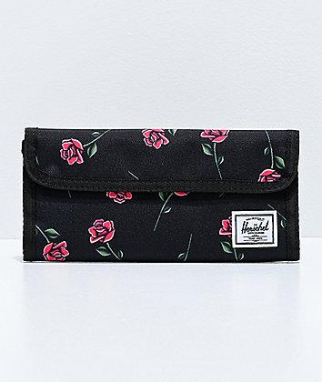 Herschel Supply Co. Smith Rose Black Wallet