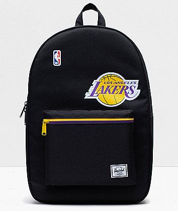 Herschel Supply Co. x NBA L.A. Lakers Settlement Black Backpack