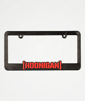 Hoonigan CBar Black & Red License Plate Frame