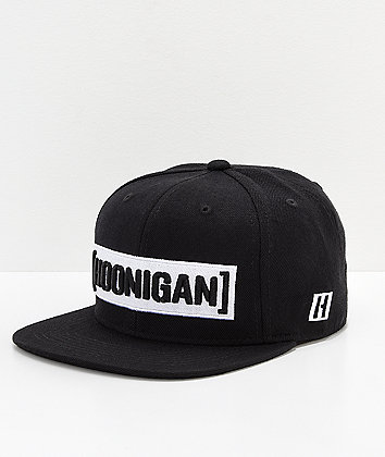 Hoonigan Censor Bar Black & White Snapback Hat