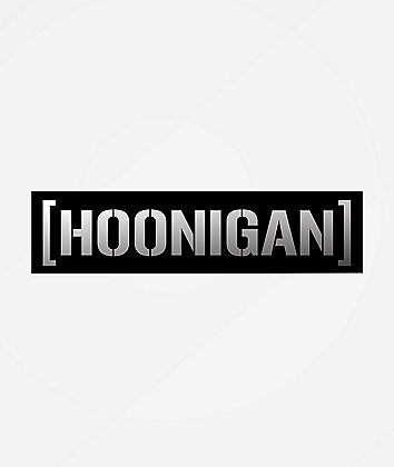 Hoonigan Censor Bar Silver & Black Sticker