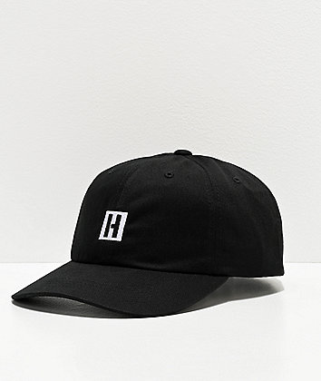 Hoonigan Icon Black Strapback Hat