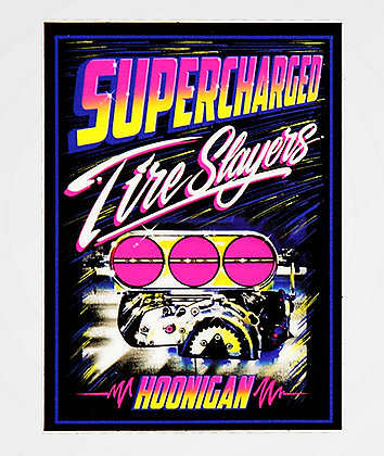 Hoonigan Supercharged Black Sticker