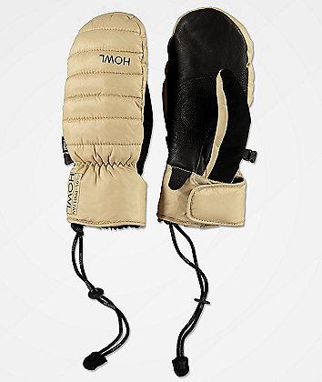 Howl Down Mitt Tan Snowboard Mittens