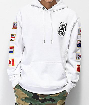 Hypland Flag White Hoodie