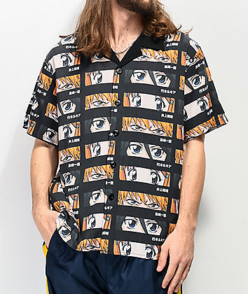Hypland x Bleach Faces Short Sleeve Button Up Shirt