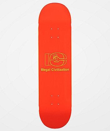"Illegal Civilization Block Logo 8.25"" Skateboard Deck"