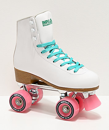 Impala White Roller Skates
