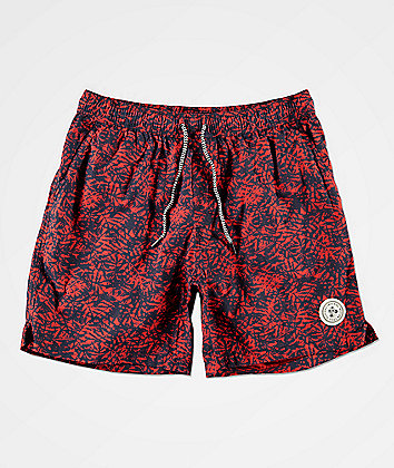 Imperial Motion Tub Seeker Volley Red Elastic Waist Shorts