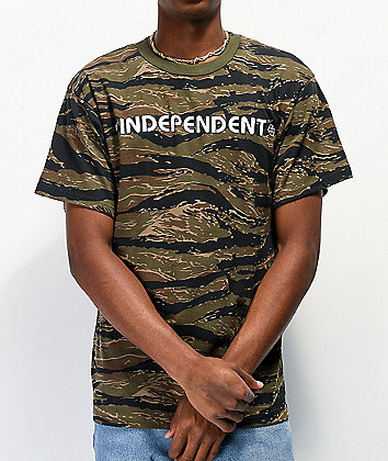 Independent Bar Cross Tiger camiseta de camuflaje