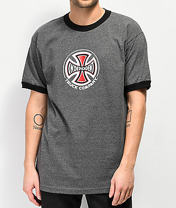 Independent Ringer camiseta gris