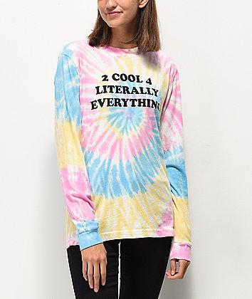 JV by Jac Vanek 2 Cool Tie Dye Long Sleeve T-Shirt