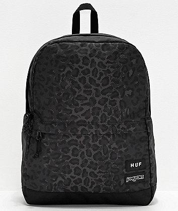 JanSport x HUF Wells Black Leopard Backpack