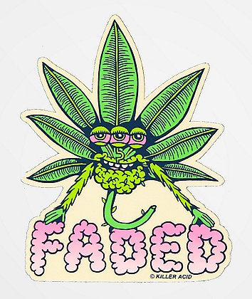 Killer Acid Faded Sticker