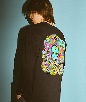 Killer Acid No Bad Trips Black Long Sleeve T-Shirt