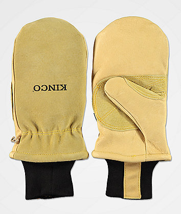 Kinco Premium Work Tan Snowboard Mittens
