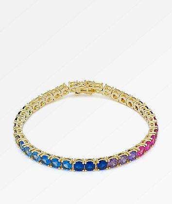King Ice 5mm Single Row Spectrum Bracelet
