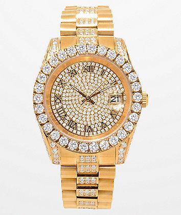 King Ice LX 14k Gold Watch