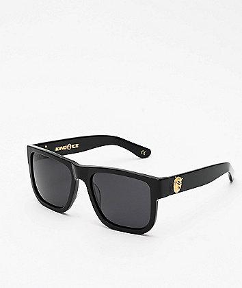 King Ice Lion Head Glossy Black Polarized Sunglasses
