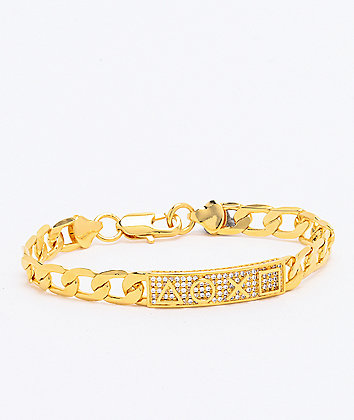 King Ice x PlayStation PS Buttons Gold Bracelet