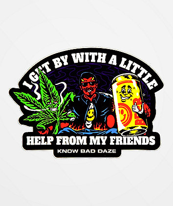 Know Bad Daze Help Sticker