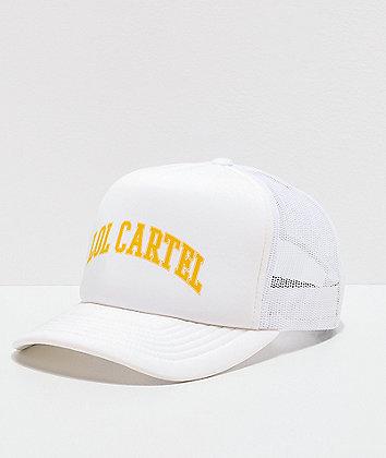 LOL Cartel High White Trucker Hat