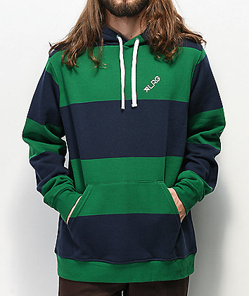 LRG Game Time Green & Blue Hoodie