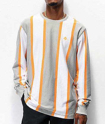 LRG Goalaso 2.0 White, Grey & Orange Stripe Long Sleeve Jersey