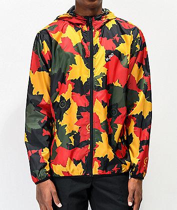 LRG Leaf Camo Red & Green Windbreaker Jacket