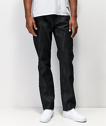 LRG Tru Taper Black Raw Denim Jeans