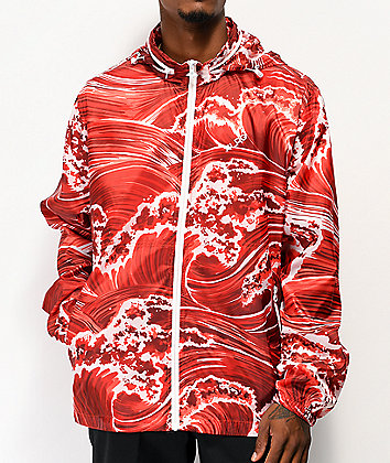 LRG Wavey Red Windbreaker Jacket