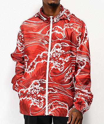 LRG Wavey Red Windbreaker Jacket