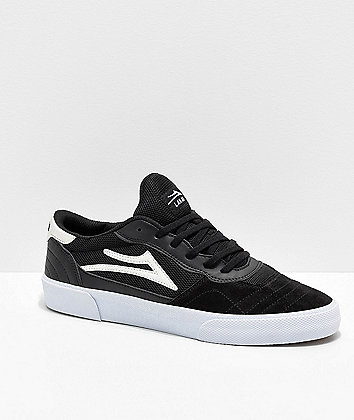 Lakai Cambridge Black & White Skate Shoes
