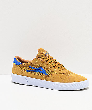 Lakai Cambridge Gold Suede Skate Shoes