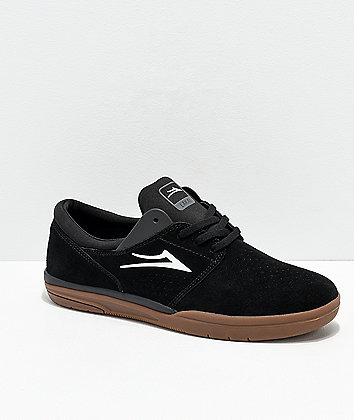 Lakai Fremont Black & Gum Suede Skate Shoes