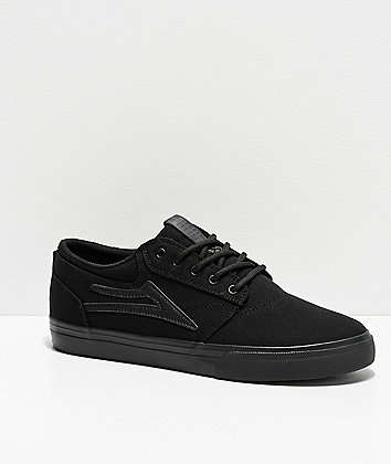 Lakai Griffin All Black Skate Shoes
