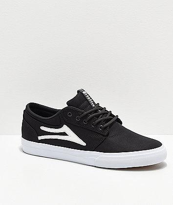 Lakai Griffin Black Textile Skate Shoes