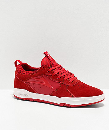Lakai Proto Red Suede Skate Shoes
