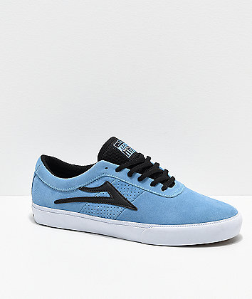 Lakai Sheffield Light Blue, White & Black Skate Shoes