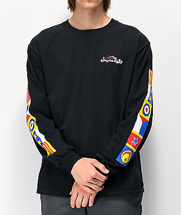 Lakai x Chocolate Flags Black Long Sleeve T-Shirt