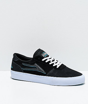 Lakai x Meridian Manchester Charcoal & Black Suede Skate Shoes