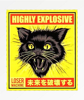 Loser Machine Black Cat Sticker