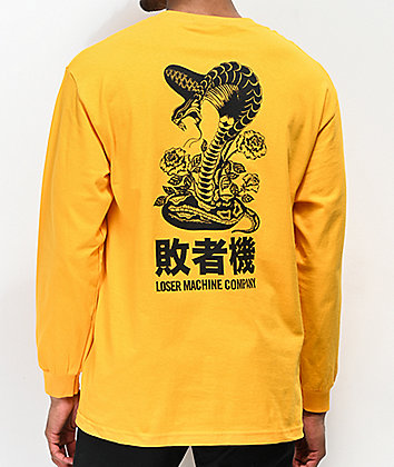 Loser Machine Self Defense Gold Long Sleeve T-Shirt