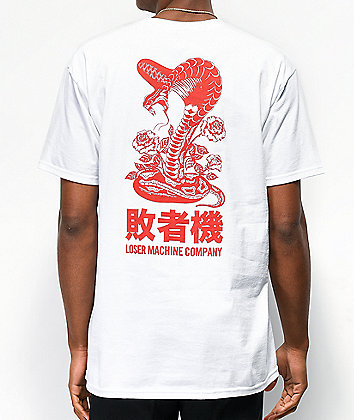 Loser Machine Self Defense White & Red T-Shirt