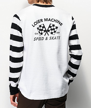 Loser Machine Southcrest White Long Sleeve Knit T-Shirt